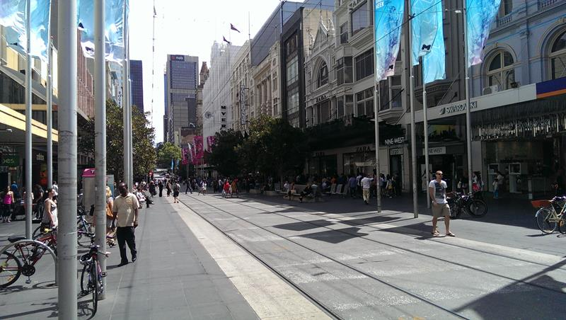 Bourke Street Shopping district of Melbourne