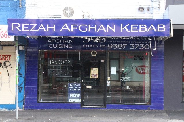 Afghan Restaurant Sydney Road